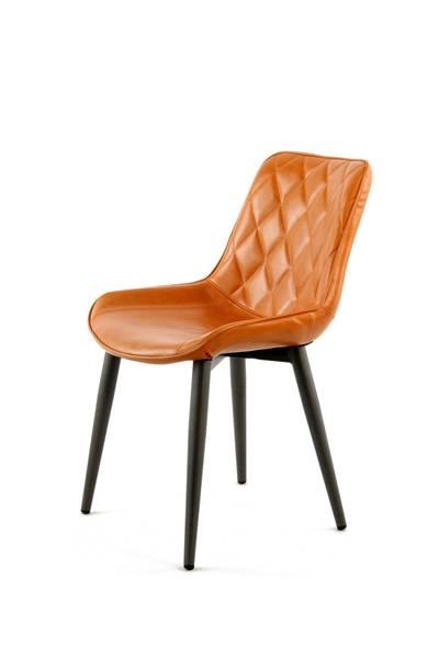 Esszimmerstuhl 110 (2er-Set) orange »Cecil«