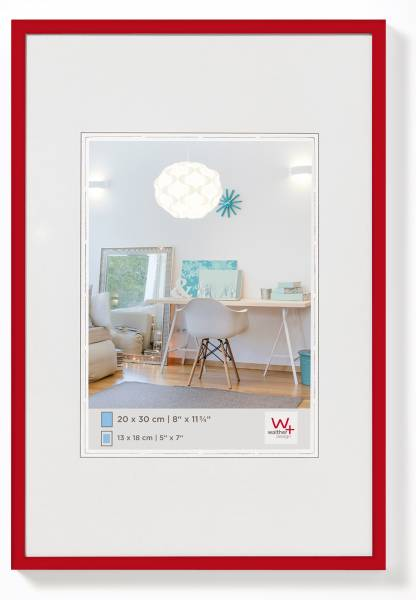 Kunststoffrahmen rot 10x15, »New Lifestyle«
