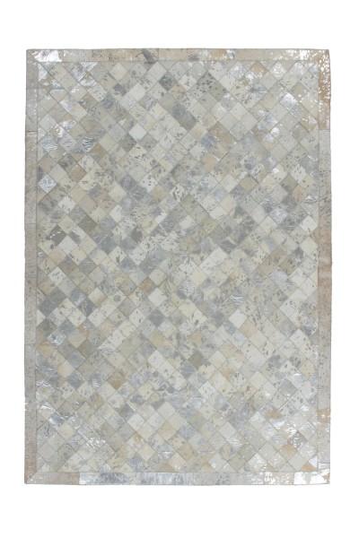 Lederteppich grau-silber »Lavish«