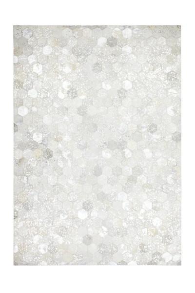Lederteppich grau-silber »Spark«