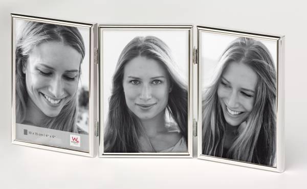Portraitrahmen silber 3x 10x15 »Chloe«