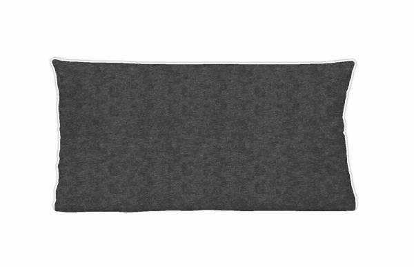 Kopfkissenbezug Biber titanium 40x80