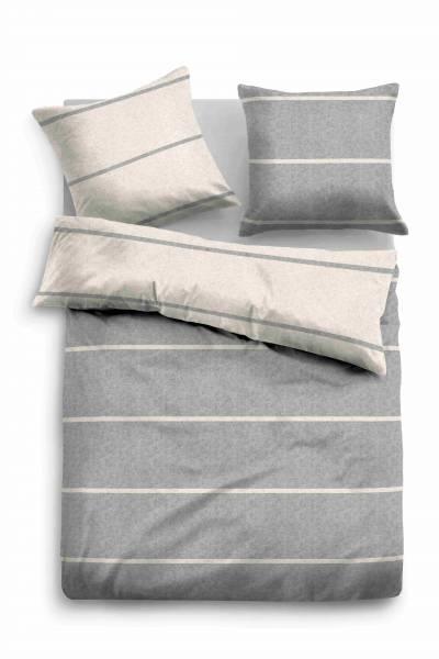 Bettwäsche Melange grey 155x200