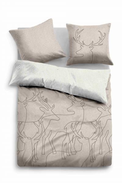 Bettwäsche Melange beige 155x220