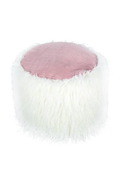 Fellpouf weiß 125 »Bobtail«