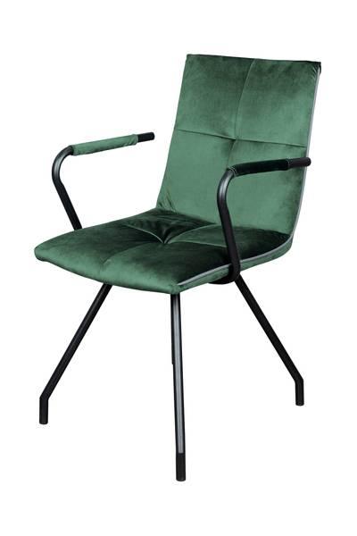 Armlehnenstuhl 225 (2er-Set) grün »Eaden«