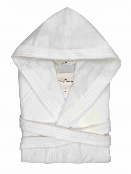 Bademantel Velours white