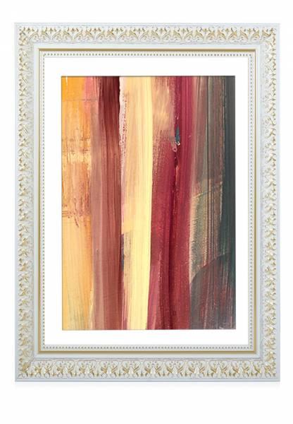 Bilderrahmen-Barock Weißgold 21x30, »LuxuryR«