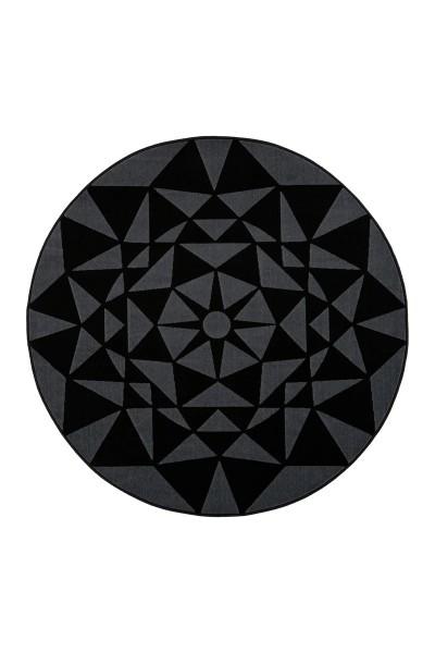 Flachflorteppich grau-schwarz »Esperanto«
