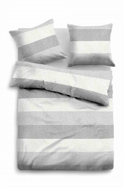Bettwäsche Melange grey 155x220
