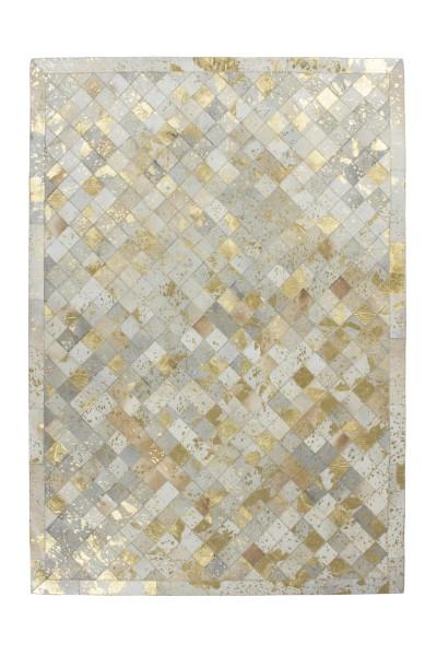 Lederteppich elfenbein-gold »Lavish«