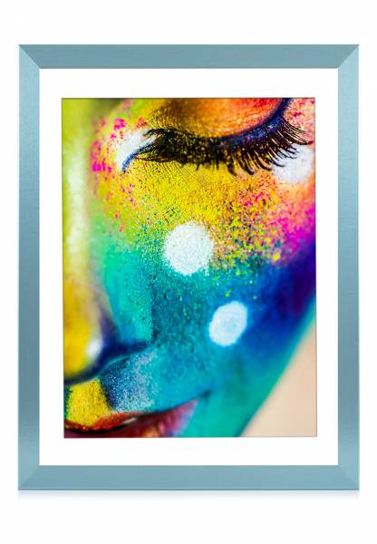 Bilderrahmen grün pastell 50x70, »Frame74«