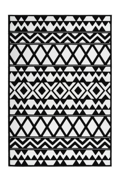 Flachflorteppich schwarz-weiß »Esperanto«