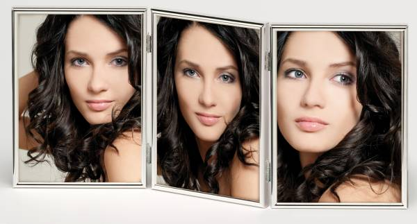 Portraitrahmen silber 3x 13x18 »Chloe«