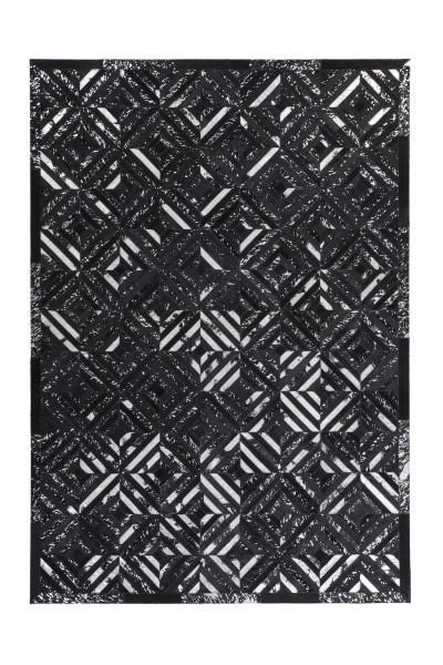 Lederteppich schwarz-silber »Spark«