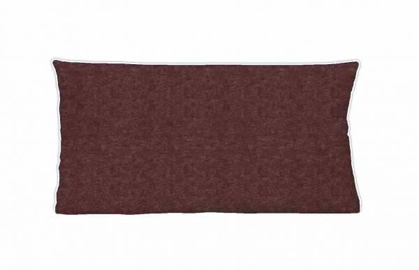 Kopfkissenbezug Biber burgund 40x80