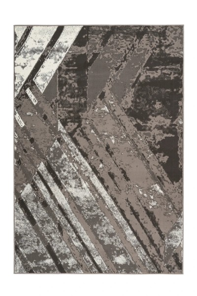 Flachflorteppich grau-creme »Esperanto«