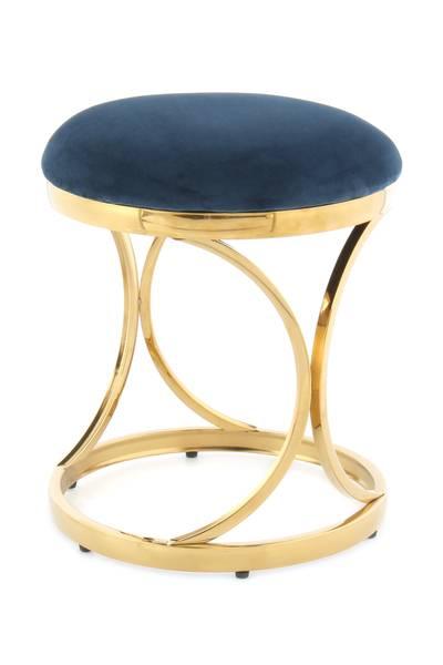 Hocker 325 blau-gold »Weyda«