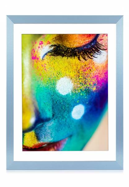 Bilderrahmen blau pastell 50x70, »Frame74«
