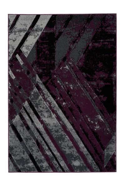 Flachflorteppich grau-violett »Esperanto«