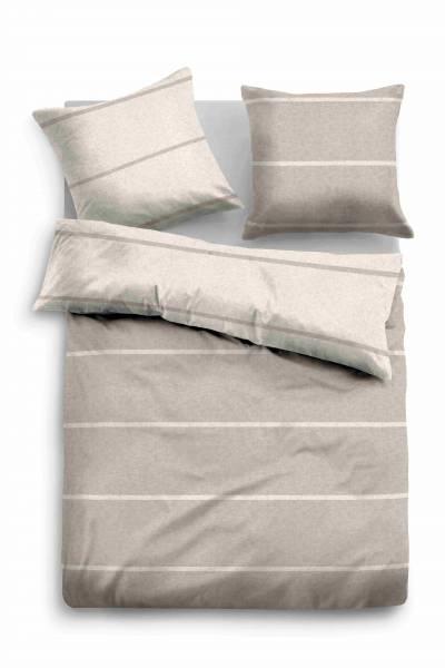 Bettwäsche Melange taupe 155x220